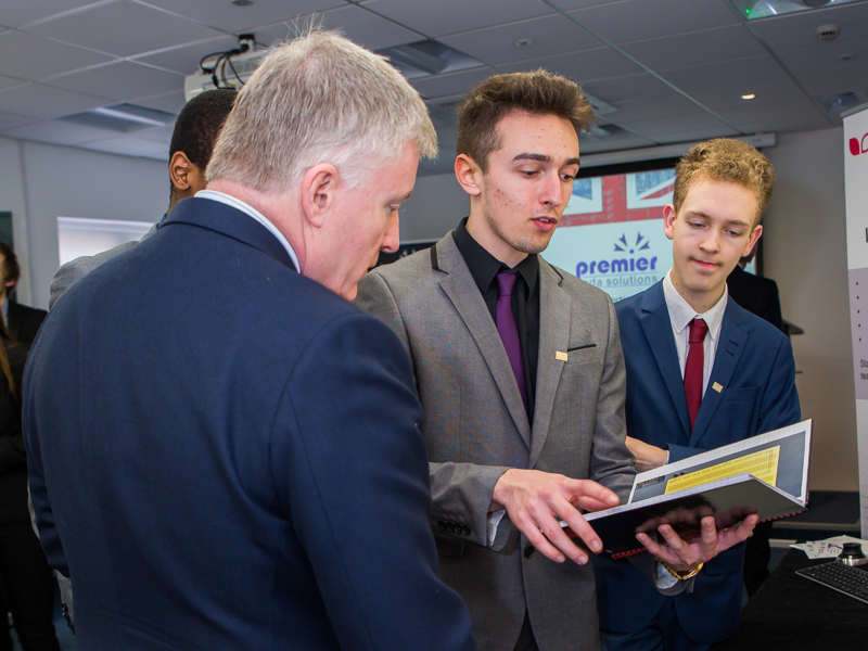 Mark Prisk MP presents Premier with Investment in Young People accreditation